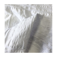 100% polyester seersucker  white extra wide jacquard  check  bedding set fabric for bedding