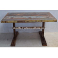 Recycled Scrap Wood Dining Table Multi color