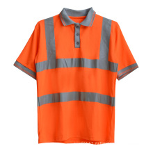 Оранжевый вязаный полиэстер ВАХ высокая видимость отражающей безопасности рубашки поло (YKY2803)