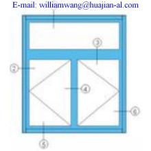 customized thermal break aluminium windows,shandong company