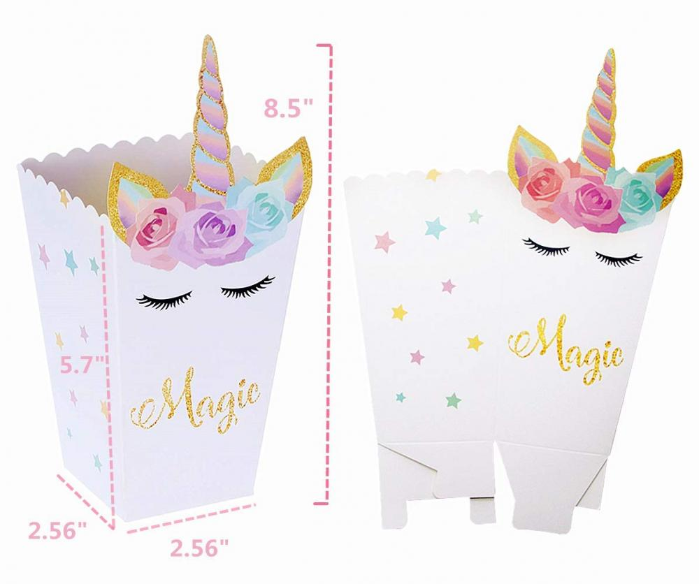 12 Unicorn Party Favor Boxes Set 3