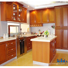 High Quality Fashion Aluminium Handles Solid Wooden Kitchen Cabinet