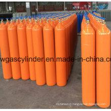 Cylindre de gaz ammoniac avec couleur orange