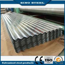3-0,13 mm épaisseur Sgch dur ondulé feuille de toiture en acier