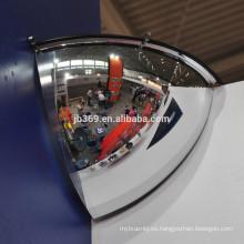 Espejo convexo de 1/4 de cúpula, espejos convexos de cúpula de seguridad acrílica de 90 grados