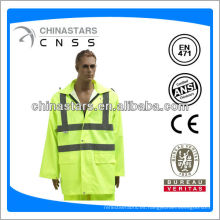 EN471 / ANSI alto amarillo impermeable de pescador
