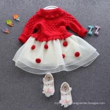 Vestidos de camisolas para 1 ano de idade artigos de natal vestidos adoráveis para crianças 1-6 anos de idade natal roupas populares blusas quentes
