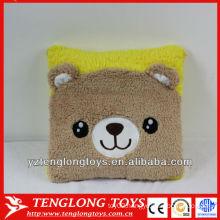 Hot sale lovely and soft customized animal plush bear cushion