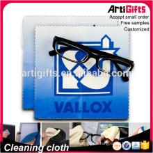 Chiffon de nettoyage de lunettes sublimé par microfibre de conception faite sur commande