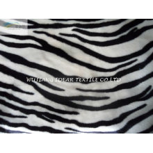 Short Plush Fabric With Zebra for blanket and toy