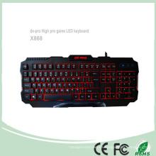 Accesorios para juegos Profesional Red LED Teclados de juegos de PC (KB-1901EL)