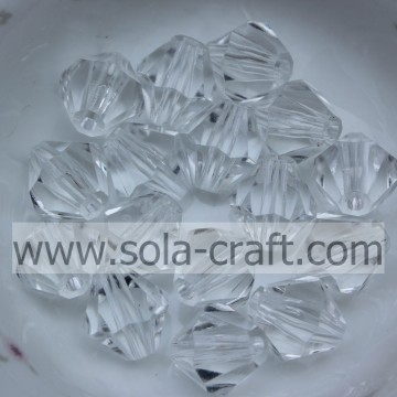 Fashion Jewelry Decoration Bicone Faceted Acrylic Crystal Beads