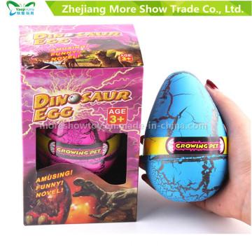 Huevos crecientes del animal doméstico Dinasour que traman el huevo juega los 8 * 12cm