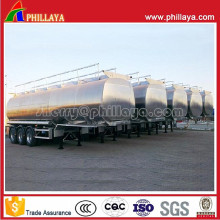 Semi-Trailer Stainless Steel Fuel Tanker with Volume Customized