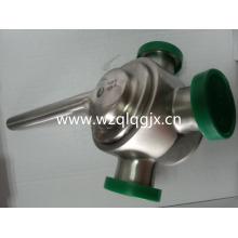 Sanitary Stainless Steel Dairy Plug Valve with Union