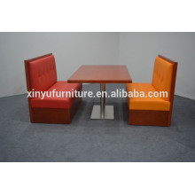 Commercial use single side restaurant booth seating fast food sofa XYN1249
