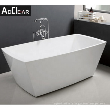 Aokeliya classic acrylic boat-shaped freestanding bathtubs for bathroom affordable price white tub for all ages