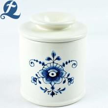 Bocaux de stockage des aliments en céramique imprimés par fleur de cuisine créative