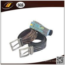Cinturón de cuero repujado de alta calidad para hombres