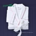 Hotel linen/Luxury 100% cotton waffle/tery cloth/velour bathrobe hotel