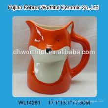 Jarra de leite de cerâmica promocional em forma de raposa