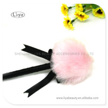 Boa Plush Long Handle Powder Puff