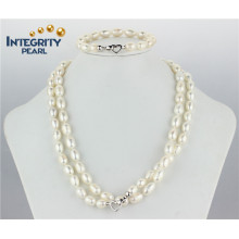 Hot Sale Pearl Set 9mm AA- Ensemble de perles de riz à eau douce