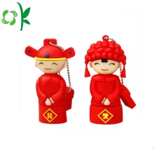 Traditional wedding Couple Silicone Micro Flash Drive Cover