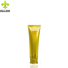 100g soft whitening cream plastic gold color tube with special cap
