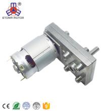 alto par baja rpm 100kg.cm pequeña caja de engranajes del motor de corriente continua para estufa de pellets