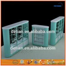 China carrinho de exposiço cosmético da forma feita sob encomenda carrinho de exposição móvel da mostra da cremalheira de exposiço