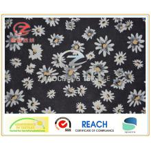 Sarja poli flor tafetá impressão forro / tecido vestuário (zcgp084)