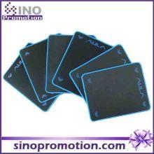 Mini tamanho Non-Slip Base de borracha Textured Wide Black Mousepad