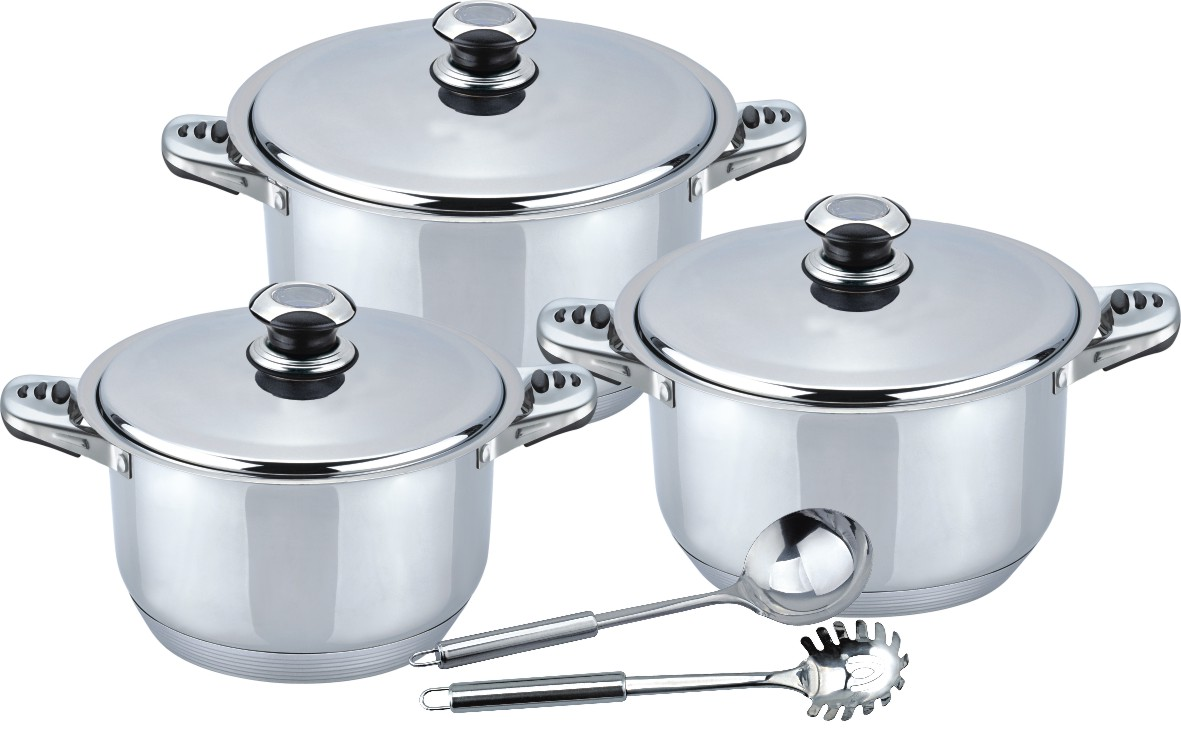 Good Quality 8pcs wide edge stock pot 2020