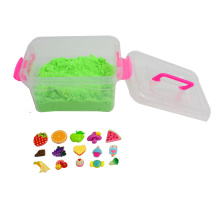 1kg 2016 New DIY Sensory Therapy Discovery Magic Sand Toy with Resin Pieces for Kids