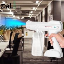 Newest 800ml Wireless Portable Disinfection Blue Light Nano Gun Ultra Fine Aerosol Water Mist Trigger Sprayer