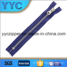 5# Open End Metal Zipper with Platinum Teeth for Shoes