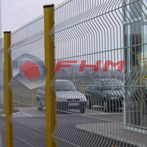 Grön 3D Vinyl Coated Perimeter Security Fence