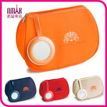 Unique Pattern Cosmetic Makeup Bag Lady Makeup Cosmetic Hand Case Pouch Bag Matching with Mirror