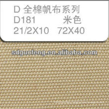 100% Cotton canvas Fabric 21/2*10 72*40 used for shoes