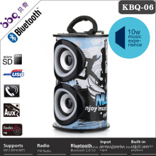 Runde LED-Licht Bluetooth tragbare Stereo-Digital-Lautsprecher
