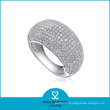 Micro anel de jóias de prata esterlina pavimentada (sh-r0011)
