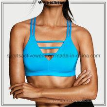 OEM Venta caliente Sublimación Tela Strappy Yoga Bra