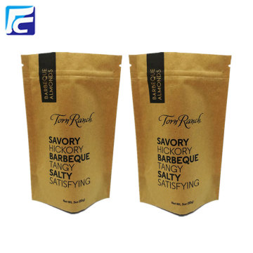 Stand up zipper kraft paper coffee bag all'ingrosso