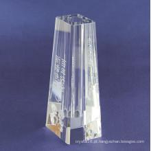 Vaso de cristal simples claro para decoração de casa