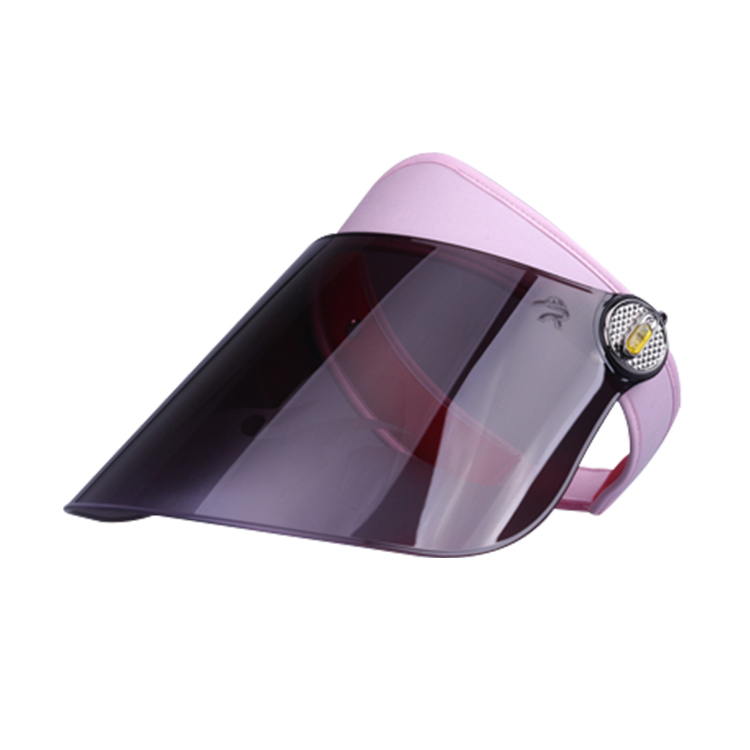 Black Hard Visor Lens Transparent Plastic Sun Visor Cap Women Hat