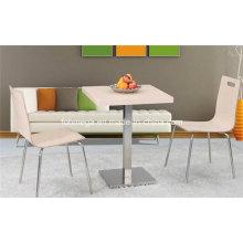 Conjunto de mesa de comedor de restaurante de acero inoxidable HPL (FOH-BC10)