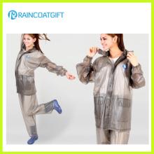 Imperméabilisez les vêtements de pluie de PVC des femmes (RVC-081)