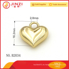 Ornamento de los bolsos del metal de la forma del corazón