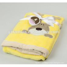 Embroiered patrón poco Animal de lana de poliéster mantas